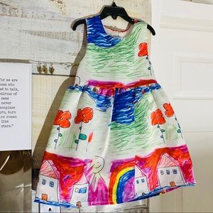 Sold Kids Colorful House Dress, 5-6